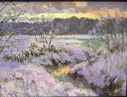 Зимний закат.